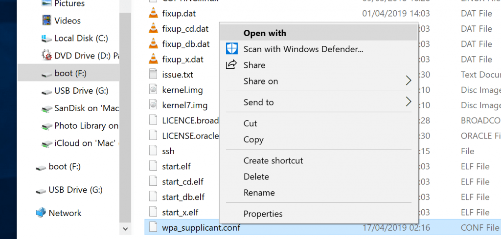 Edit File with Open With Notepad