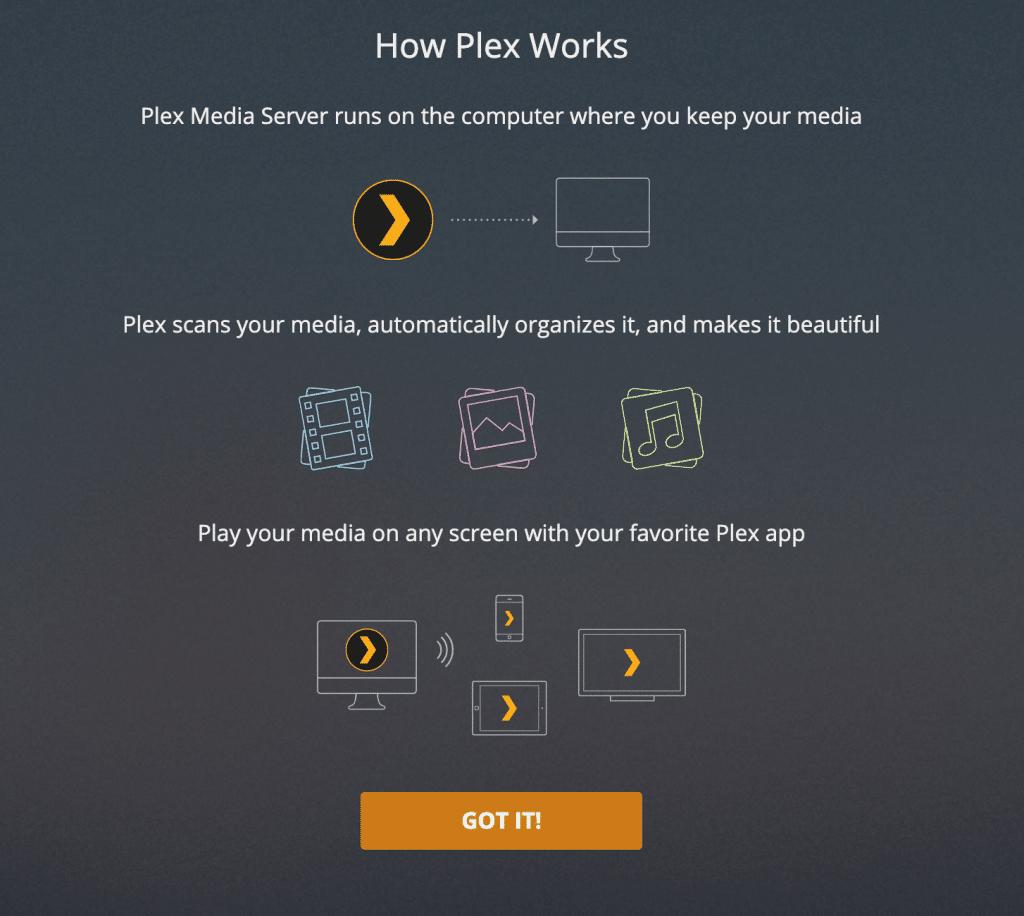 Plex Start Page Settings