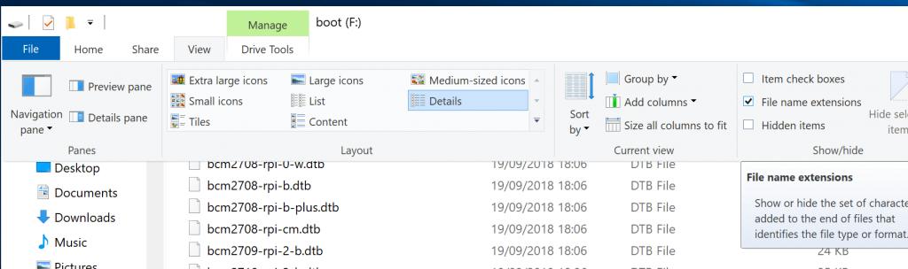 Menampilkan Extensi File