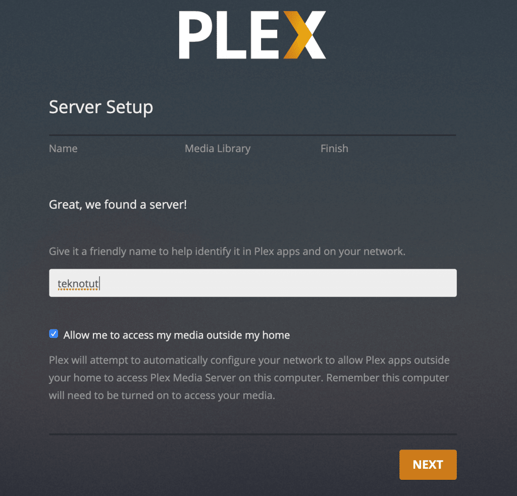 Plex Server Name Settings