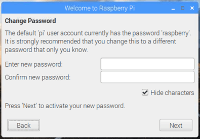 Raspbian Password Settings