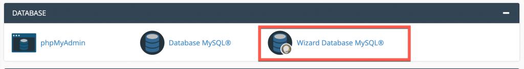 Pilih Wizard Database MySQL